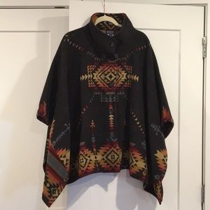 Pendleton reversible wool poncho.